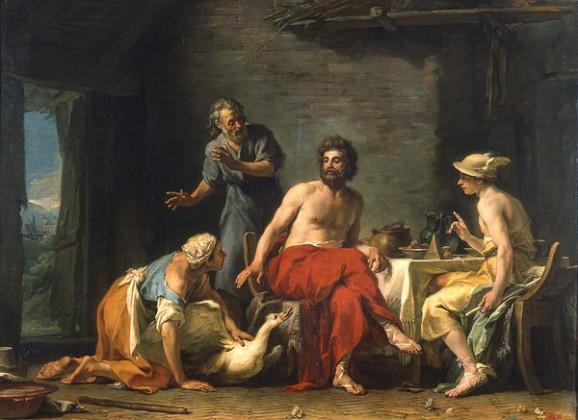 Restout_-_Philémon_et_Baucis_donnant_l'hospitalité_à_Jupiter_et_Mercure