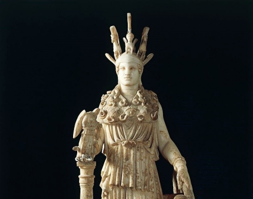 varvakeion-athena-roman-marble-copy-of-greek-statue-of-athena-by-picture-id103024155